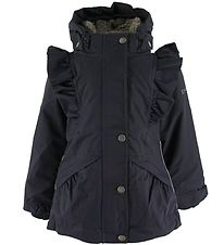 En Fant Winter Coat - Classic Navy w. Ruffles