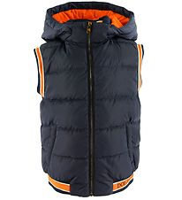 Dolce & Gabbana Down Gilet - Navy w. Orange