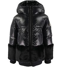 Moncler Down Jacket - Logodec - Black w. Fur