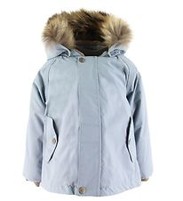 Mini A Ture Winter Coat - Wally Fur - Dusty Blue
