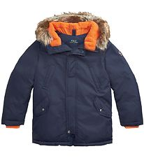 Polo Ralph Lauren Down Jacket - Navy w. Orange