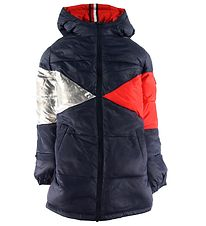 Tommy Hilfiger Padded Coat - Reversible Iconic Puffer - Navy/Red