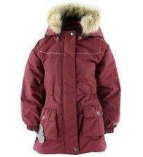 Wheat Winter Coat - Mathilde - Burgundy