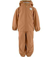 Wheat Rainwear w. Suspenders - PU - Charlie - Golden Caramel