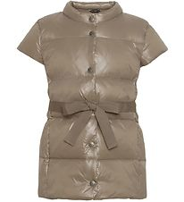 Ver the Terre Down Gilet w. Belt - Caramel
