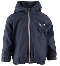 BOSS Lightweight Jacket - Casual - Navy w. White