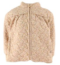 Wheat Thermo Jacket - Thilde - Soft Beige Flowers