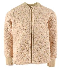 Wheat Thermo Jacket - Loui - Soft Beige Flowers