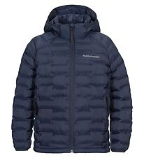 Peak Performance Down Jacket - Jr Argon Light Hood - Navy