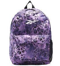 Reebok Backpack - Purple Leopard Print