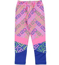 Kenzo Leggings - Exclusive Edition - Neon Pink/Blue w. Logo