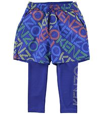 Kenzo Leggings/Shorts - Exclusive Edition - Vivid Blue w. Logo