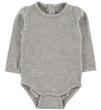 Mini A Ture X-Mas Bodysuit l/s - Maxie - Light Grey Melange