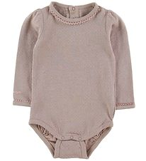 Mini A Ture X-Mas Bodysuit l/s - Maxie - Sphinx Rose