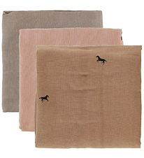 ferm Living Muslin Squares - 3-pack - Horse