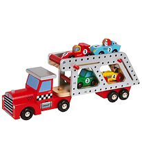 Janod 4 Cars Transporter Lorry - 40 cm