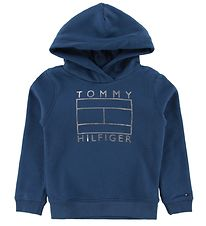 Tommy Hilfiger Hoodie - Essential Graphic - Dusty Navy