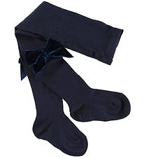 Condor Tights w. Velvet Bow - Navy