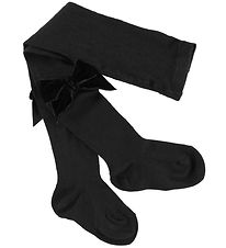 Condor Tights w. Velvet Bow - Black