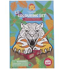 Tiger Tribe Colouring Set - 3D - Fierce Creatures