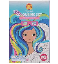 Tiger Tribe Colouring Set - 3D - Rainbow Dreams