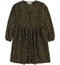 Hound Dress - Black/Yellow Flowers