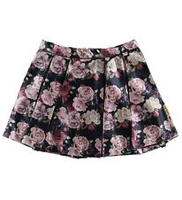 Hust and Claire X-Mas Skirt - Neah - Navy w. Flowers