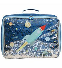 A Little Lovely Company Suitcase - Glitter - Space