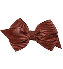 Little Wonders Bow Hair Clip - Viola - 6 cm - Grosgrain - Brown