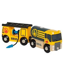 BRIO Tanker Truck With Wagon - Yellow