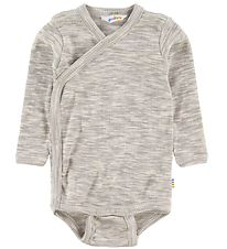 Joha Wrap Body l/s - Melange Grey