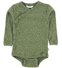 Joha Wrap Body l/s - Melange Green