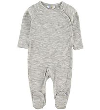 Joha Jumpsuit w. Footies - Grey Melange
