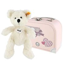 Steiff Soft Toy in Suitcase - Lotte - 28 cm - White