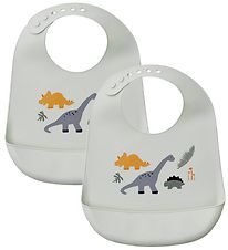 Liewood Bibs - 2-pack - Tilda - Silicone - Dino Mix
