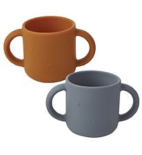 Liewood Cups - 2-pack - Gene - Silicone - Rabbit Blue Wave