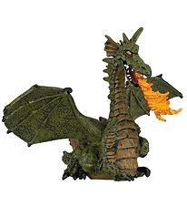 Papo Green Winged Dragon w. Flames - L: 15,4 cm