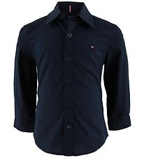 Tommy Hilfiger Shirt - Solid - Sky Captain