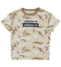 adidas Originals T-shirt - Camo - White/Beige Camo