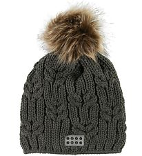 Lego Wear Hat - Wool/Polyester - Amanda - Dark Green w. Pompom