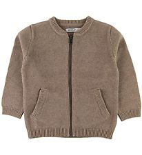Wheat Cardigan - Knitted - Chris - Wool/Cotton - Camel Melange