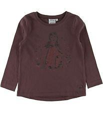 Wheat Disney Long Sleeve Top - Frozen - Soft Eggplant w. Anna