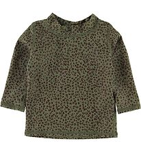 Soft Gallery Swim Top L/S - UV50+ - Baby Astin - Oil Green
