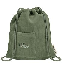 Soft Gallery Gymsack - Oil Green w. Fish