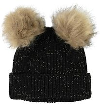 Petit by Sofie Schnoor Hat - Knitted - Perla - Black/Glitter