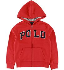 Polo Ralph Lauren Zip Hoodie - Red w. Text