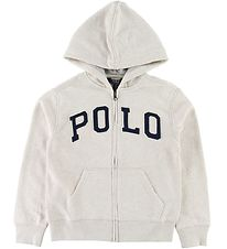 Polo Ralph Lauren Zip Hoodie - Beige Heather w. Text