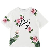 Dolce & Gabbana T-shirt - Ivory w. Roses