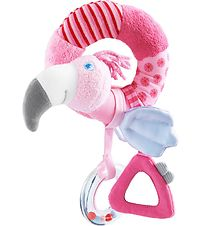 HABA Rattle - Pink Flamingo