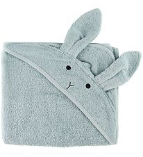 Liewood Hooded Towel - Augusta - 100x100 - Rabbit Sea Blue